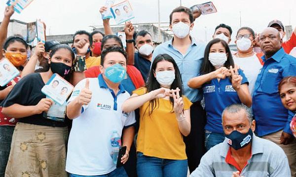 Al norte de Guayaquil llegan las propuestas del binomio Lasso-Borrero
