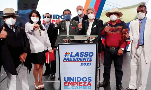 216 Organizaciones Sociales y Productivas respaldan la propuesta de cambio binomio Lasso-Borrero