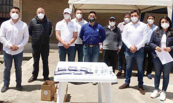 Guillermo Lasso y #SalvarVidasEC realizan nieva entrega de equipos en Sigsig