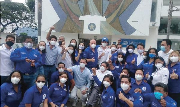 El Movimiento CREO inscribió a sus candidatos en Guayas