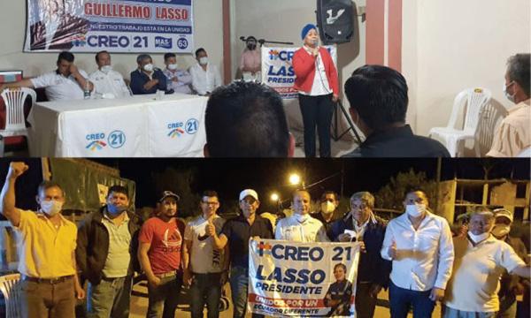 CREO posesiona directivas parroquiales en Zamora Chinchipe