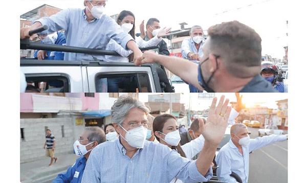 Manta respaldó a Guillermo Lasso en una multitudinaria caravana