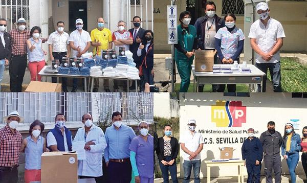 SalvarVidasEC entregó ayuda a tres hospitales y cuatro centros de salud en Azuay