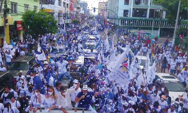 Esmeraldas se volcó a las calles para respaldar el cambio que ofrece Lasso