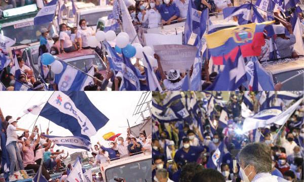 Con una espectacular caravana Los Ríos recibió a su futuro presidente