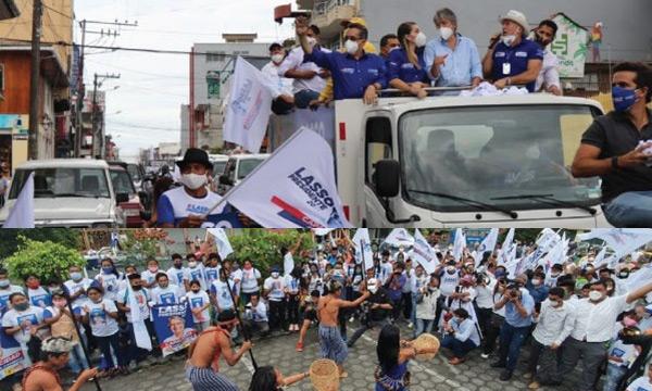 En Macas una gigantesca caravana recibió al candidato presidencial de CREO, Guillermo Lasso
