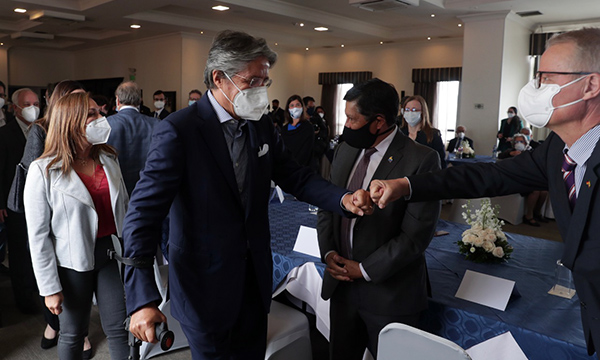 Lasso se encontró con diplomáticos acreditados en 30 países