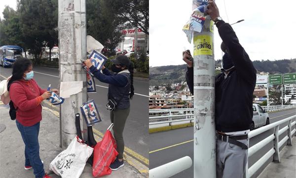 CREO retira la propaganda electoral en Tungurahua