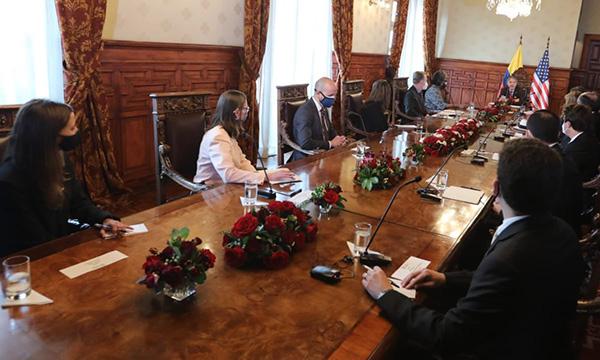 Presidente Lasso se reunió con la delegación diplomática de EE.UU.