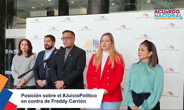 BAN apoya destitución de Freddy Carrión